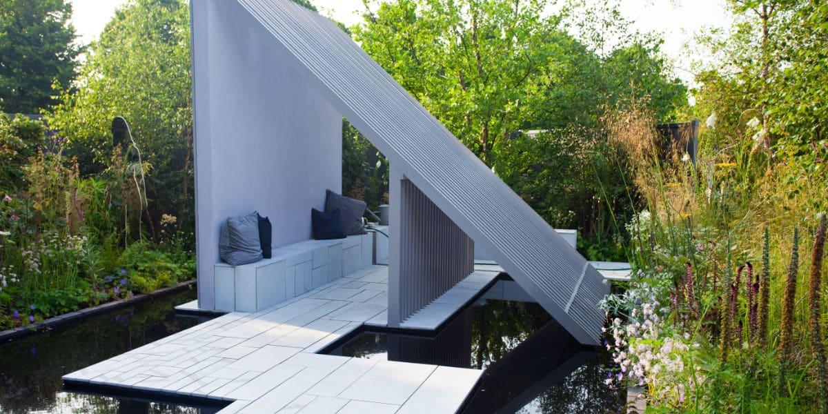 Modern terras tegels