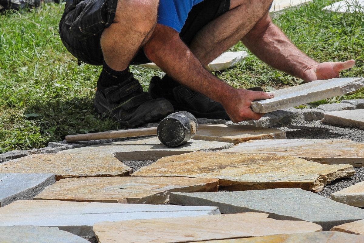 opbouw natuursteen terras