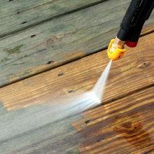 reiniging houten vlonder