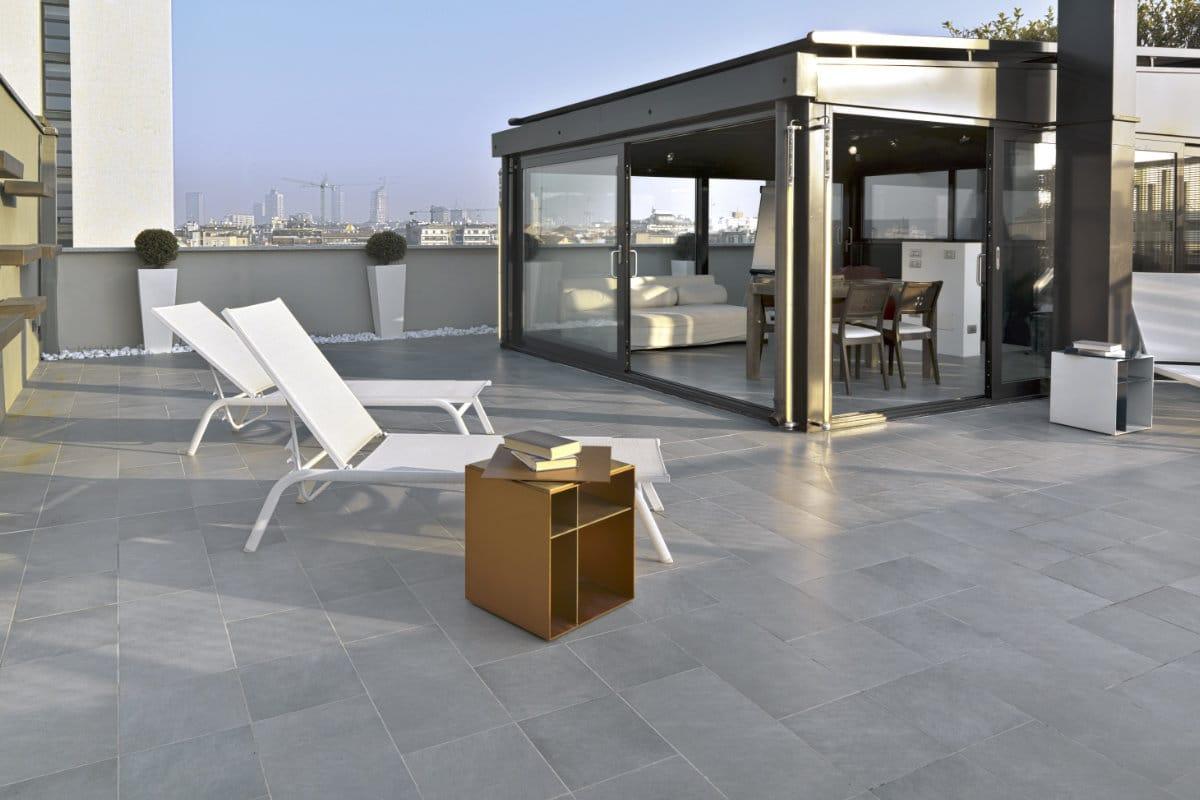 voorbeeld van natuursteen terras